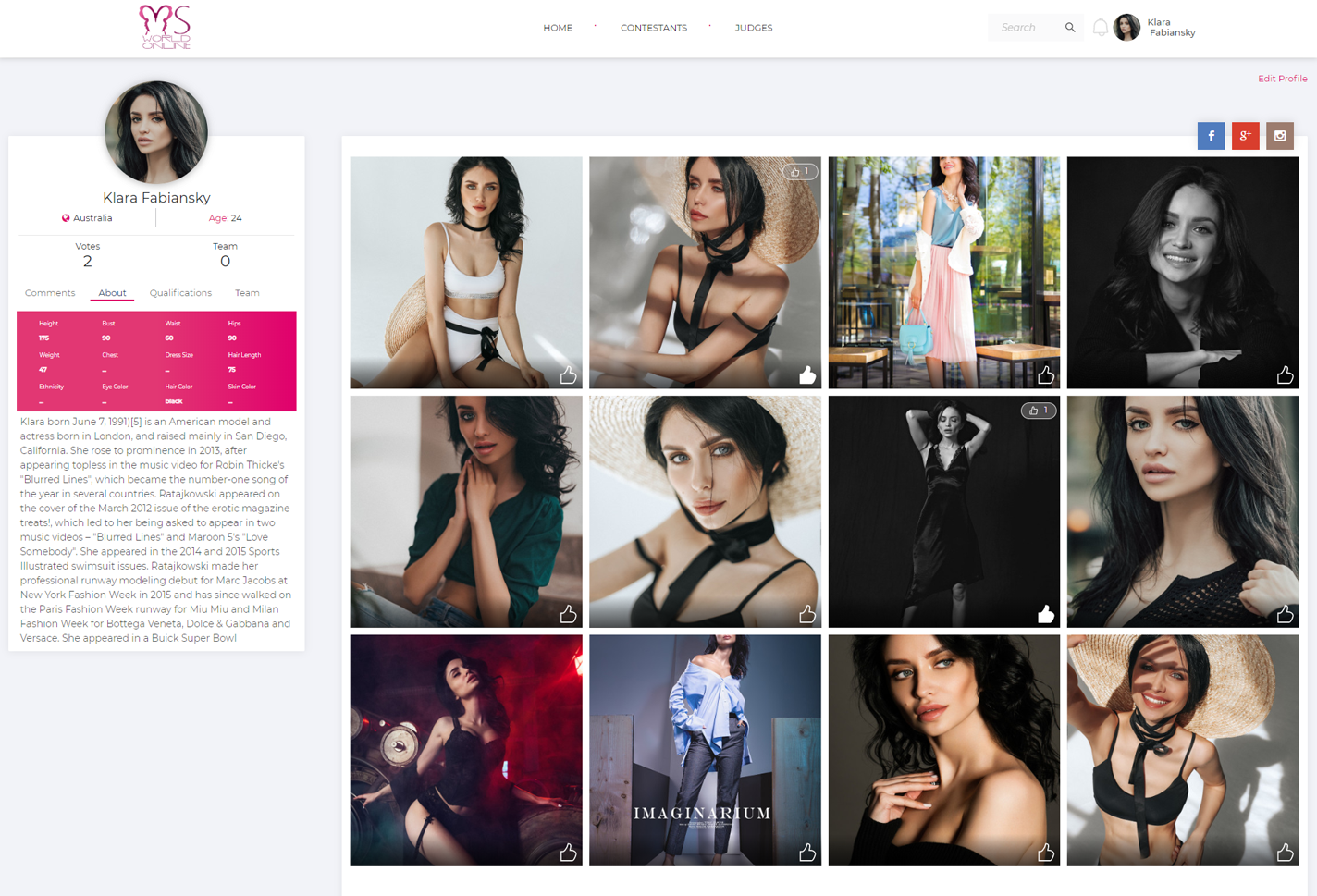 Miss World Online Profile